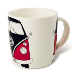 VW Porcelanowy kubek BUS RED/BLACK