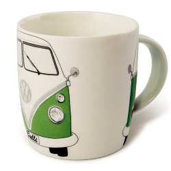 VW Porcelanowy kubek BUS GREEN
