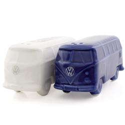 VW Przyprawnik BUS biały i niebieski, solniczka i pieprzniczka zestaw