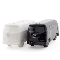 VW Przyprawnik BUS biały i czarny, solniczka i pieprzniczka zestaw