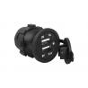 Ładowarka samochodowa 2xUSB montaż stały + kabel