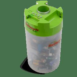 BATRECYCLE pojemnik na zużyte baterie z testerem
