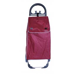 Aurora by Casabriko KANGURO bordowy wózek na zakupy z aluminium 50l