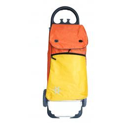 Aurora by Casabriko KANGURO ICE pomarańczowy wózek na zakupy z izotorbą aluminium 55l