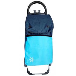 Aurora by Casabriko KANGURO ICE niebieski wózek na zakupy z izotorbą aluminium 55l