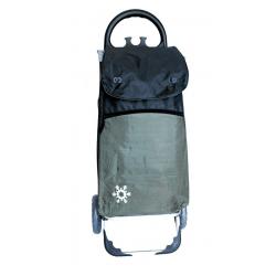 Aurora by Casabriko KANGURO ICE czarny wózek na zakupy z izotorbą aluminium 55l