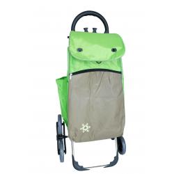 Aurora by Casabriko KOALA ICE zielony wózek na zakupy z izotorbą aluminium 55l, 6 kół