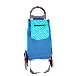 Aurora by Casabriko KOALA niebieski wózek na zakupy aluminium 50l, 6 kół