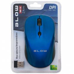 BLOW Mysz optyczna bezprzewodowa MB-10 niebieska