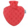 Fashy Termofor czerwone serce w osłonie welurowej - 0,7l
