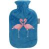 Fashy Termofor w welurowej osłonie z flamingami 2l