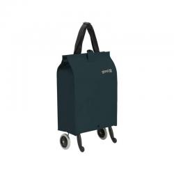 GIMI składana torba zakupowa, wózek składane koła BRAVA Plus niebieska