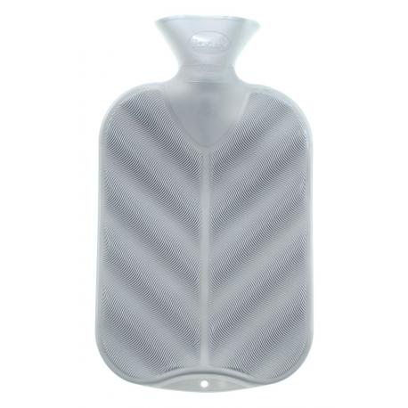 Fashy Termofor 2l, wzór fala 3D, kolor srebrny