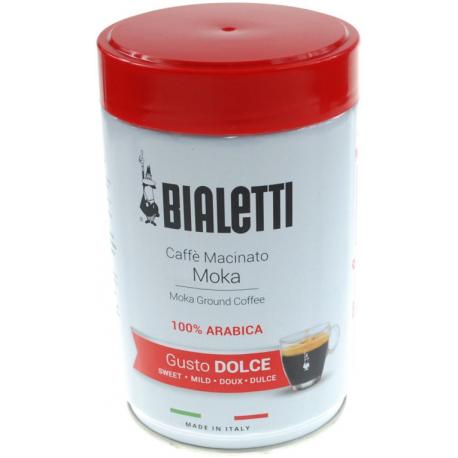 BIALETTI CAFFE Macinato MOKA Kawa mielona słodka 250g, 100% Arabica