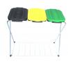 ARTEX SACK FIX 3 stojak na worki 3x120 z półką, żółty, zielony, czarny