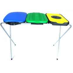 ARTEX EkoMatik3 stojak na worki 3x120, żółty, zielony, niebieski