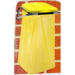 ARTEX WALLFIX uchwyt ścienny na worki, pokrywa żółta