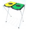 ARTEX EKO-Life 2 - stojak, stelaż na worki 2x120l z odchylaną klapką w wieku i półką żółto zielony