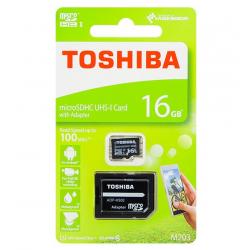 TOSHIBA Karta micro SDHC 16GB + adapter SD M203