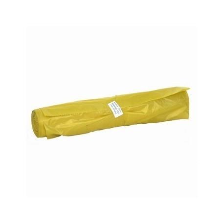 Worki na śmieci, odpady 120l - żółte