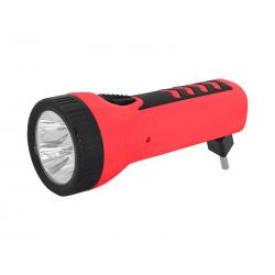 Latarka ręczna 4-LED TS-1166 z akumulatorem, 230V, czerwona