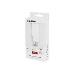 BLOW Ładowarka sieciowa z gniazdem USB 2,1A H21A biała