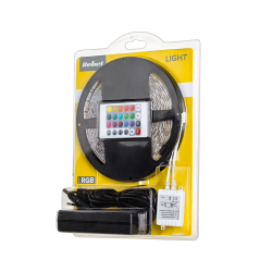 Zestaw oświetleniowy Rebel (sznur LED RGB, kontroler kolorów, zasilacz) 5m