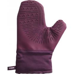 Meliconi - silikonowe fioletowe rękawice kuchenne do gorącego - 230st.C