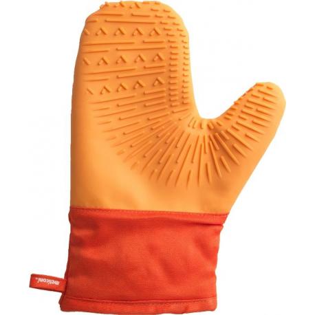 Meliconi - pomarańczowe silikonowe rękawice kuchenne do gorącego - 230st.C