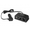 Przedłużacz rozgałęziacz gniazda zapalniczki samochodowej 2x gniazdo + 1x USB CS-27