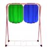 ARTEX SACK FIX 2 stojak na worki 2x120 z półką niebiesko zielony