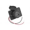 Ładowarka samochodowa uniwersalna do montażu z miernikiem V/A USB 12/24V 5V/2,4A