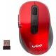 Mysz optyczna bezprzewodowa NATEC - czerwona