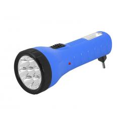 Latarka ręczna 7-LED + COB TS-1139 z akumulatorem, 230V, niebieska