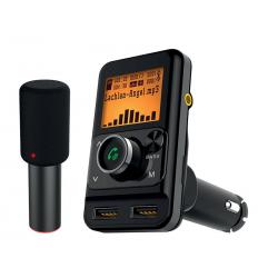 Transmiter FM LTC Bluetooth z mikrofonem Karaoke 2xUSB 1+2,4A TR225