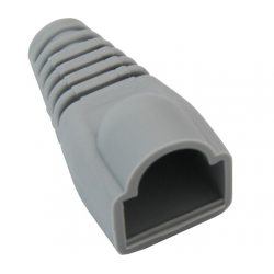 Osłona gumowa szara wtyk RJ45 8p8c - 10szt