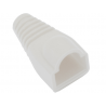 Osłona gumowa biała wtyk RJ45 8p8c - 10szt