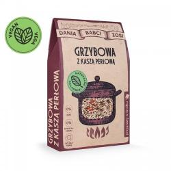 Zupa grzybowa z kaszą perłową - Dania Babci Zosi