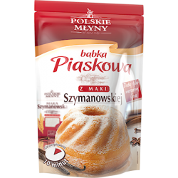 Mieszanka do wypieku babki piaskowej z mąki Szymanowskiej Polskie Młyny