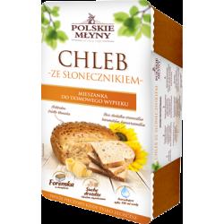 Chleb pszenno-żytni z ziarnami słonecznika 0,3kg, foremka Polskie Młyny