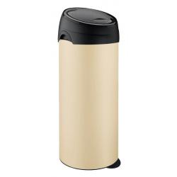 Meliconi kremowy kosz na śmieci SOFT Touch - 40l, czarna klapa