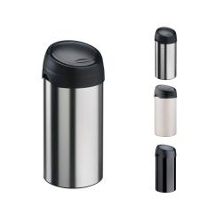 Meliconi kosz na śmieci SOFT Touch - 40l, czarna klapa, stal szczotkowana