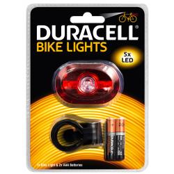 Duracell Lampka rowerowa LED B03 światło tylne + 2x AAA