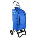 Casa si Partner wózek z torbą termiczną na zakupy niebieski