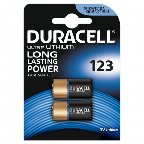 Bateria litowa 3V CR123 DURACELL ultra