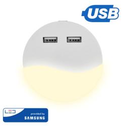 Lampka Nocna LED z USB V-TAC SAMSUNG CHIP Okrągła VT-84 3000K