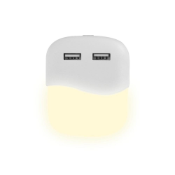 Lampka Nocna LED z USB V-TAC SAMSUNG CHIP Kwadratowa 3000K VT-84
