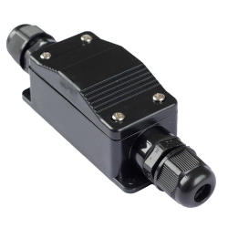 Puszka złączka instalacyjna hermetyczna czarna IP65 82.5x34x32.5mm V-TAC