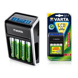 Ładowarka VARTA Plug LCD + akumulatory 4 x AA 2100mAh