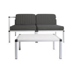 Mobilny zestaw wypoczynkowy Living&Garden 2x fotel + stolik